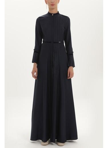 Societa Pilise Detaylı Belden Oturtmalı Elbise 92196 Lacivert